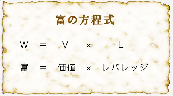 富の方程式